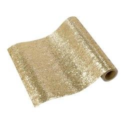 Bordslöpare Guld Glitter Brun