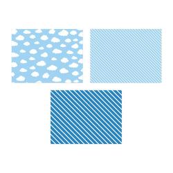 Bordstabletter Blå Little Plane 6-Pack Blå