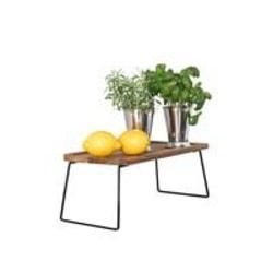 Bri Brickbord acacia  med smides ställning 40*20 cm Brun