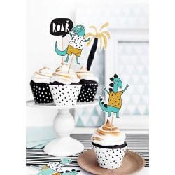 Cake Picks - Dinosaurs Blå