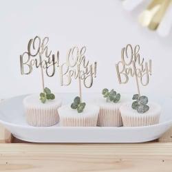 Cake Picks Guld - Oh baby! Guld