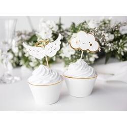 Cake Picks - Moln & Vingar Vit
