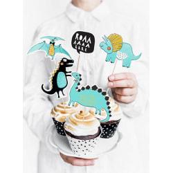 Cake Picks Topper Dinosaurier Dinosaurietema  Blå
