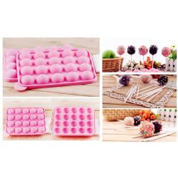 Cake Pops Silikonform Form Klubbor Pinnar Form Bakform -BakeCake Rosa