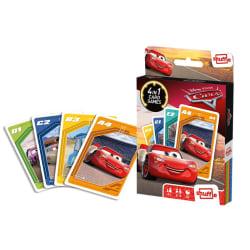 Cars Card Game 4-in-1 CDU- Kortspel multifärg