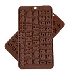 Chokladform i Silikon Siffror Bokstäver Alfabetet SIlikonform Pr multifärg