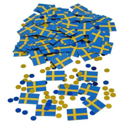 Confetti Flaggor Sverige