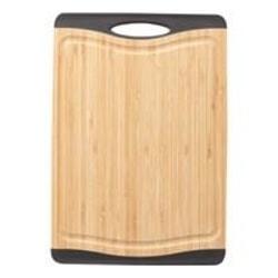 Cora Skärbräda bambo svarta silikon kanter non-slip 33*23 cm Brun