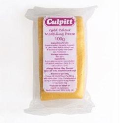 Culpitt Modelleringspasta Guld, Gold -100g- multifärg