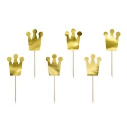 Cupcake Toppers Princessa 6-Pack Guld