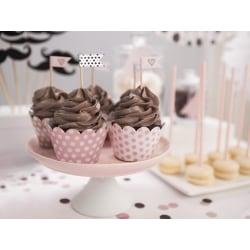 Cupcake Wrappers Rosa Prickiga Muffinsformar 6-Pack Rosa