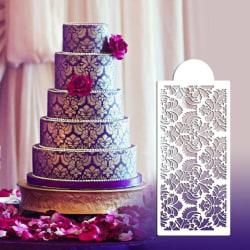 Damask Schablon Tårta Bröllopstårta Dekorera Stencil multifärg