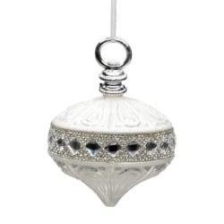 Julkula Glas Vit Kristall Dekor D10 cm White Glas Vit
