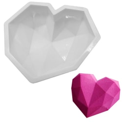 Diamant Hjärta SIlikonform Mousseform Smash The Heart Vit