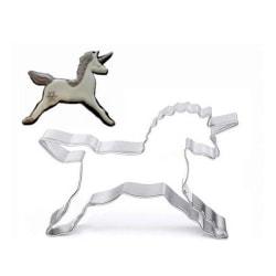 Enhörning Unicorne Utstickare Häst Cutter Rostfritt Stål Vit