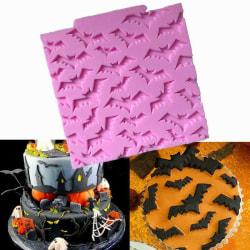 Fladdermus Halloween Silikonform Chokladform MultiColor