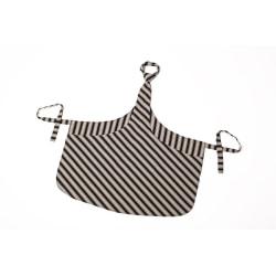 Förkläde Chef Tie-apron® Svart/Grå rand