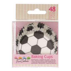 Muffinsformar Fotboll 48st- Funcakes multifärg