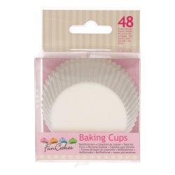 Muffinsformar vita 48st- Funcakes Rosa