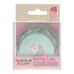 Muffinsformar Unicorn 48st- Funcakes multifärg
