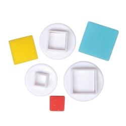 Fyrkanter 3st Plunger Utstickare multifärg