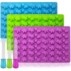 Godisform Mini Dinosaurier Gummy Pralinform Silikonform multifärg