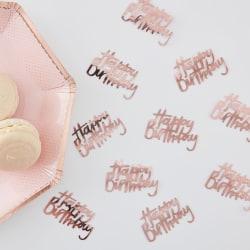Happy Birthday Roséguld Konfetti  Rosa guld