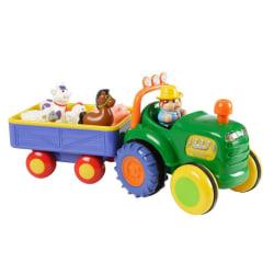HB Farm Tractor w Trailer B/O-Traktor med vagn  multifärg