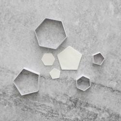 Hexagon Utstickare 4st multifärg