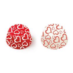 Hjärta Röda Vita Muffinsformar 36st - Decora  multifärg