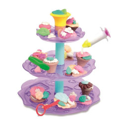 Dough Cup Cake Tower- Cup Cake Torn med Modellera - JDE  multifärg