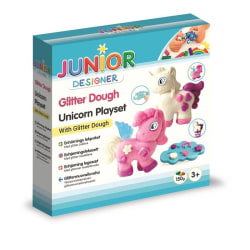Glitter Dough Unicorn Playset- Modellera med Glitter - JDE  multifärg