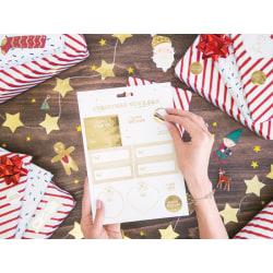 Julklistermärken Julklappar Etiketter Stickers Klistermärken Jul Gold
