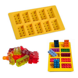 Klossar 10 Bitar Blocks Silikonform Form Sugarpaste Bakform Chok multifärg
