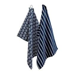 Kökshanddukar Dot & Stripe 2 pack - Bercato Blå