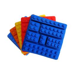 Lego Klossar 7 Bitar Silikonform Blue