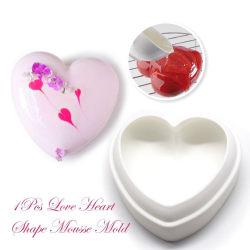 Mirror Glazeform Hjärta SIlikonform Mousseform - BakeCake Vit