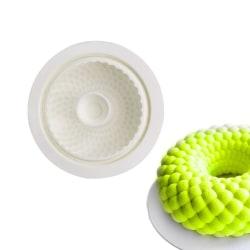 Mousseform Runt Bubblig Silikonform  MultiColor