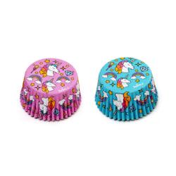 Muffins formar Unicorn Blå-Rosa 36st Enhörning - Decora  multifärg