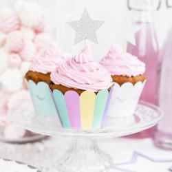 Muffins Formar Wrappers Unicorn Set - PartyDeco multifärg