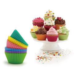 Muffinsformar i Silikon 6-Pack Silikonformar Formar Runda Bullfo multifärg