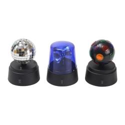 Music Disco 3-i-1 set-- 3 discokulor med olika ljuseffekter. Svart