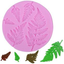 Ormbunke 5st Blad Silikonform Löv Form MultiColor