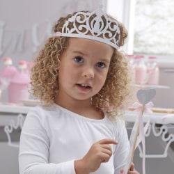 Partykronor Tiara Krona Silver Glitter 5-Pack Silver