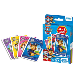 Paw Patrol Card Game 4-in-1- Kortspel multifärg
