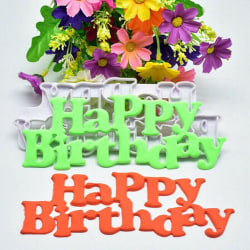 Utstickare Happy Birthday  Vit