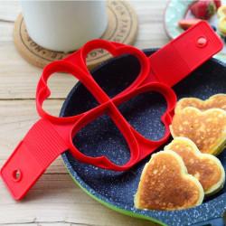 Plättform till Stekpannan Pannkaksform Form Plättar Silikon Hjär Röd