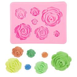 Rosor 7st Blommor Silikonform Gjuform Bakform Choklad Pink