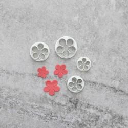 Rosor Utstickare 4 st   Blomma Blommor multifärg