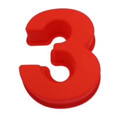 Siffran 3 Siffertårta Stor Sifferform Nummertårta Röd